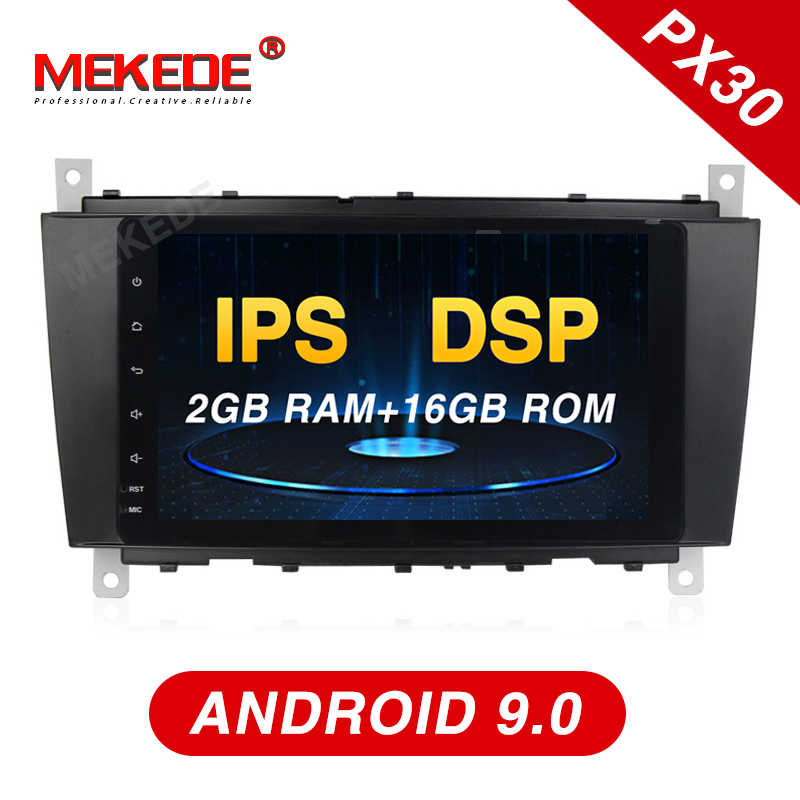 Mekede android 9.0 Car DVD Player <font><b>radio</b></font> GPS <font><b>Navi</b></font> for Mercedes/<font><b>benz</b></font>/C-Class/<font><b>W203</b></font>/CLK/W209/C180/C200/C220/C240/C250/C270/C280/C300 image