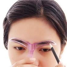 Профессиональные Косметические Инструменты Уход за макияжем рисунок Blacken брови шаблон maquillage Макияж инструмент трафареты для бровей