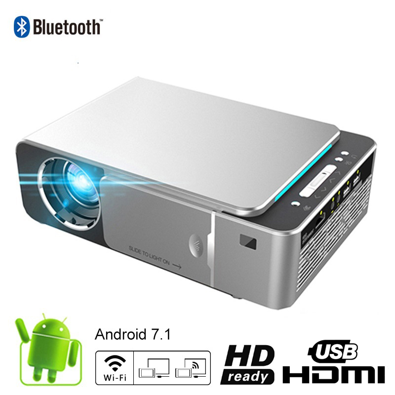 UNIC T6 3500 Lumens Portable LED Projector Android 7 1 HD 720P HDMI WIFI 2 4G