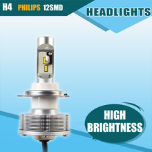 Hot Sale H4 Automobiles LED Headlights Cars Bulb White LED H4 Headlamp High Power 36W Brightest 6000K Car Styling