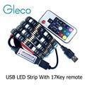DC5V USB LED strip 5050 RGB Гибкий Свет 1 М 2 М ТВ Подсветкой RGB LED полосы Клейкой Ленты IP20/IP65 водонепроницаемый