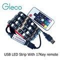 DC5V USB LLEVÓ la tira 5050 RGB Flexible de la Luz 1 M 2 M TV Iluminación de fondo RGB LED tira Adhesiva Cinta IP20/IP65 a prueba de agua