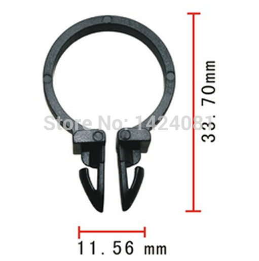 500x oem nylon 19mm 3 4 id car rod wire cable loom routing clip rh aliexpress com