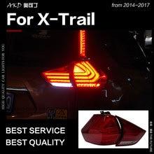 АКД автомобильный Стайлинг для Nissan X-trail задние фонари 2014-2017 Rouge светодио дный задний фонарь DRL сигнальный тормоз Реверс авто аксессуары