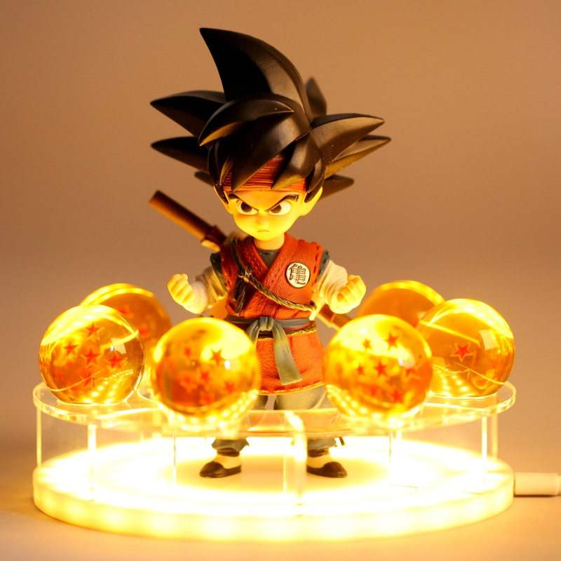 Son Goku Table Lamp Spirit Bomb Dragon Ball Z LED Night Lights Room Desk Lamps Home Decoration Diy Crystal Ball Fans Collection