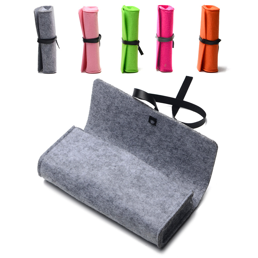 New Felt Sunglasses Case For Women Kleurrijke Candy Brillen Doos - Kledingaccessoires - Foto 1
