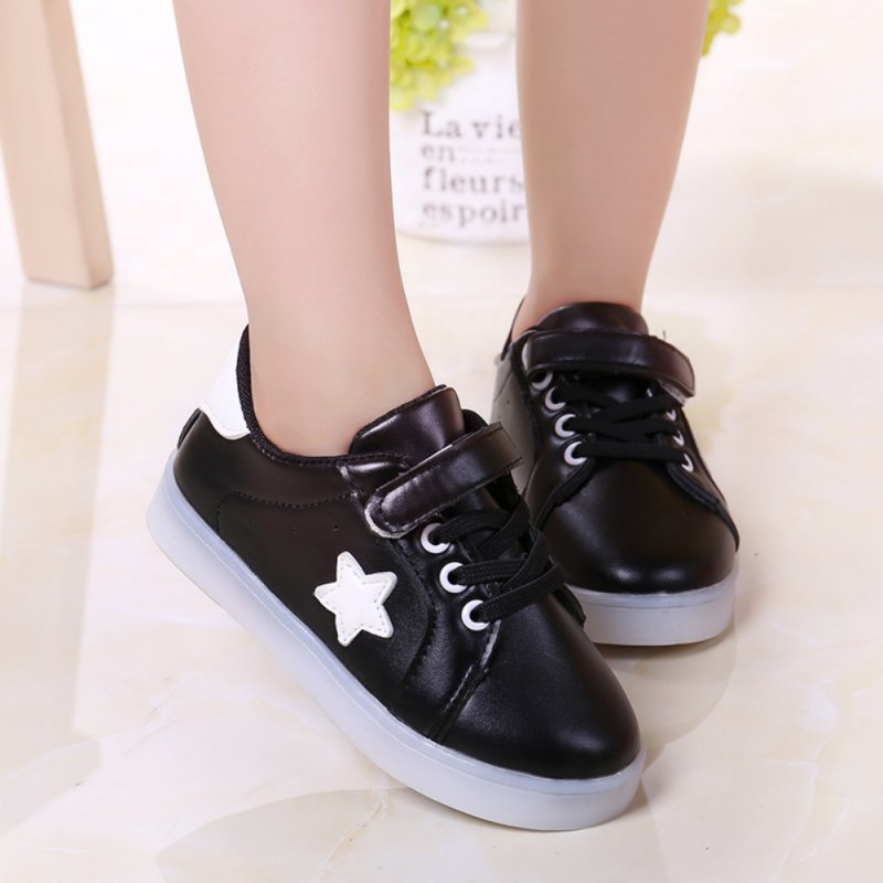 Children Shoes Kids Girls Boys Shoes Toddler First Walkers Moccasins LED Growing Luminous Board Shoes