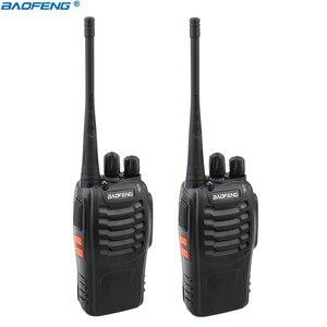 Image 1 - 2PCS Baofeng BF 888S 워키 토키 휴대용 라디오 16CH UHF 400 470MHz 양방향 라디오 송신기