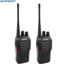 2PCS Baofeng BF 888S Walkie Talkie Portable Radio 16CH UHF 400 470MHz Two way Radio Transmitter