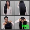 200% Плотность 8А Glueless Полный Шнурок Человеческих Волос Парики для черные Женщины Бразильский Виргинский Волосы Прямые Кружева Перед Человеческого Волоса парики