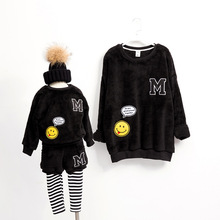 [Baby Suit] family matching clothes hoodies mother and daughter clothes family matching clothes winter new family look sweater