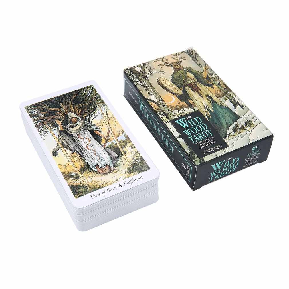 Magic Wild Wood Tarot Read Fate Tarot Card Game For Personal Use Board Game A 78-card Deck And Guidebook
