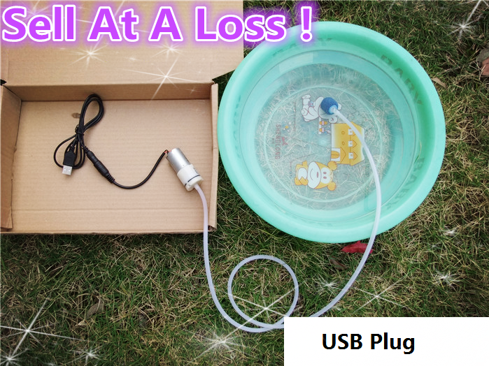1set/lot K420B 3-6V 370 DIY Aquarium Air Pump Model With USB Power Line Sell At A Loss USA Belarus Ukraine 10pcs g45 usb b type female socket connector for printer data interface high quality sell at a loss usa belarus ukraine