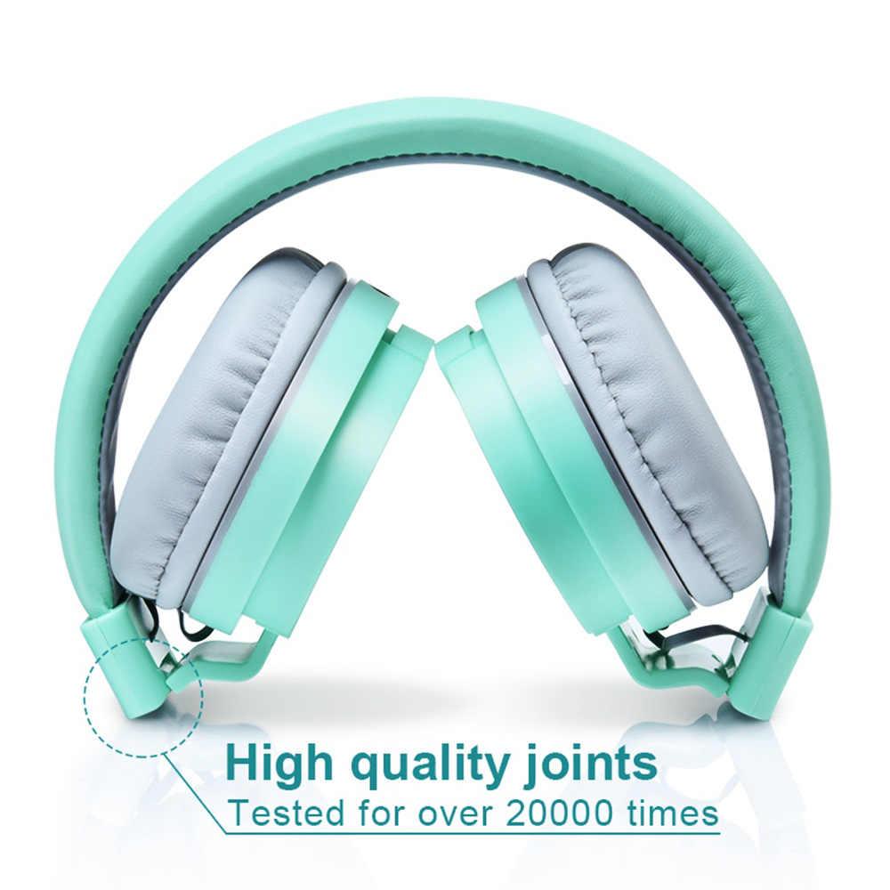 TOMKAS Słuchawki przewodowe Stereo zestaw słuchawkowy regulowane słuchawki i słuchawki z mikrofonem słuchawka do telefonu i muzyki
