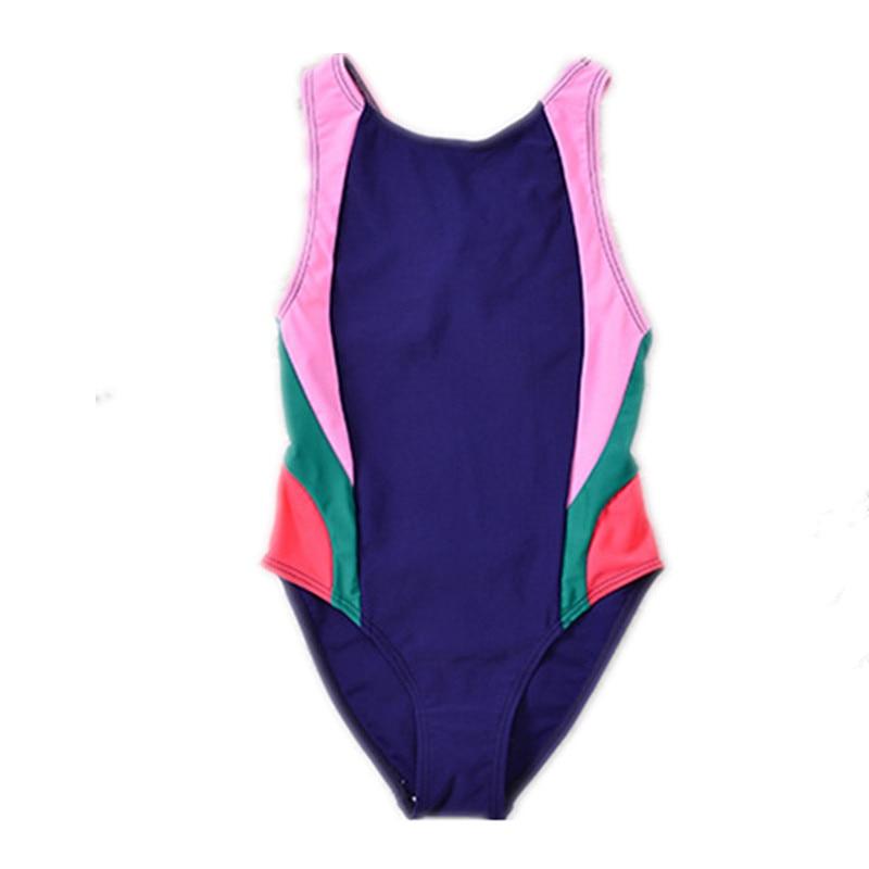 7920fd03f1 Funfeliz Kids girls bathing suit Patchwork One piece swimwear for girls  Children swimsuit lovely girl sport swim suit 5 12 Years-in Children's One- Piece ...