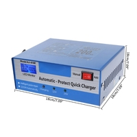 Free delivery 12V/24V Automatic Quick Battery Charger Intelligent Pulse Repair Truck Storage