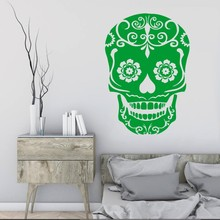 Hot Sale  ERASURE DAY OF THE DEAD SKULL LOGO Vinyl Wall Art Sticker Decal Home Decoration Paper Bedroom Y-26