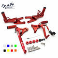 CNC Aluminum Motorcycle Front Rear Foot Pegs Rest Pedal Footrest Rearset Accessories For Benelli TNT125 TNT 125 2016 2017 2018