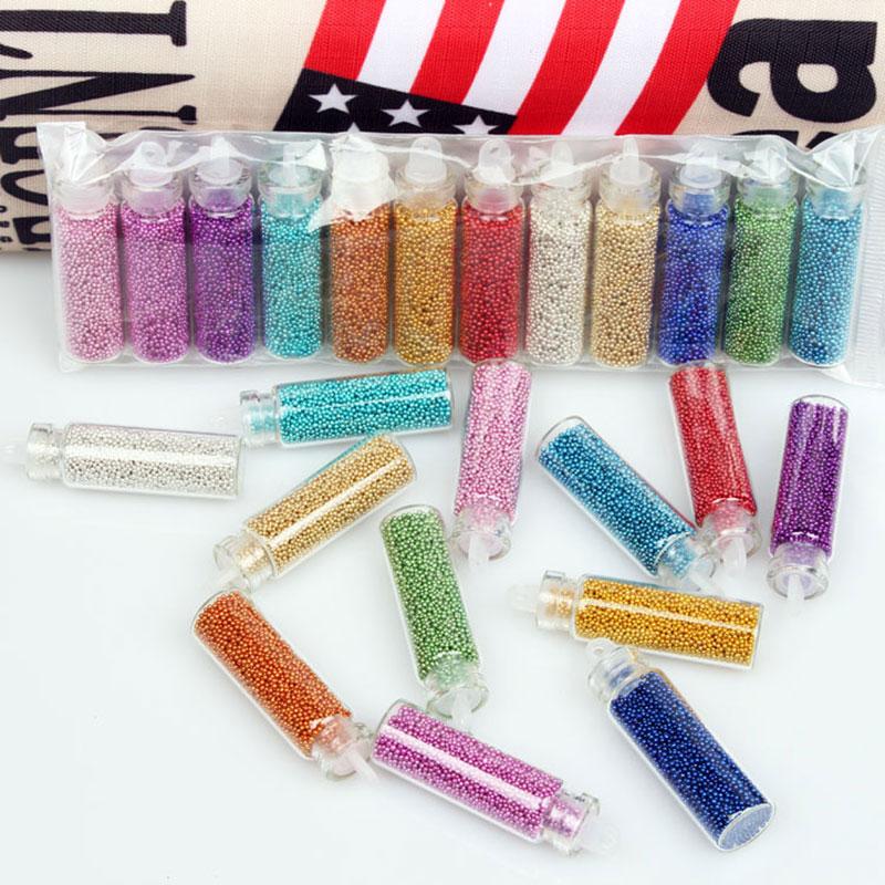 12 Colors Mini Glitter Caviar Micro Beads tips 3D Nail Art Acrylic UV Gel Set 2018 Best Selling Products