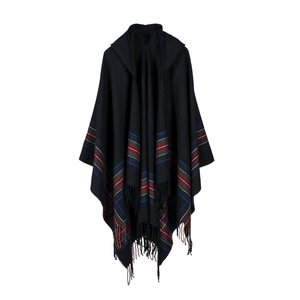 Image 2 - New design 100% ACRYLIC foulard femme Autumn / Winter warm fashion cloak poncho 130*150CM Black/Gray/Wine Red/Khaki tippet shawl