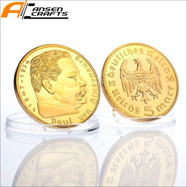 Kostenloser Versand 5 Mark Münze 1847 1934 Paul Von Hindenburg