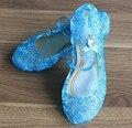 Túnel da moda princesa cinderela bela adormecida verão sandálias sapatas dos miúdos para meninas