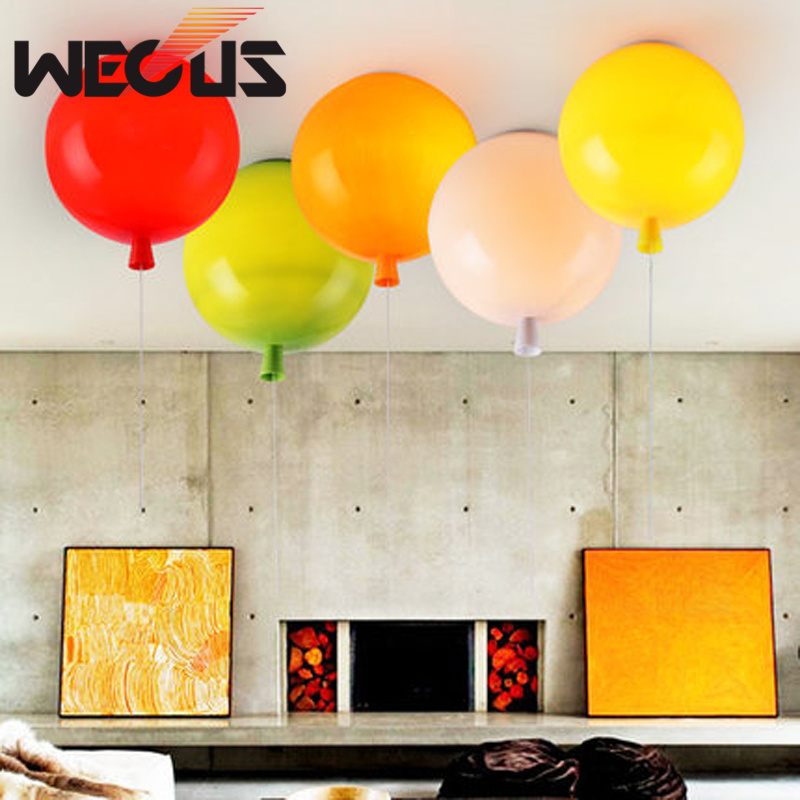 D200mm Colorful balloon light, Kid bedroom lamp, household living room kindergarten bar ceiling lamps