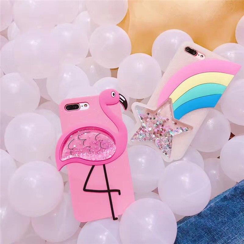 Liquid Glitter Stars Soft Silicone Case For iphone X (4)