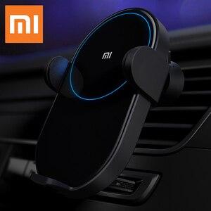Image 1 - 원래 xiaomi 무선 자동차 충전기 20 w 빠른 충전기 자동차 휴대 전화 홀더 슈퍼 빠른 충전 스탠드 mi9 아이폰 xs 최대