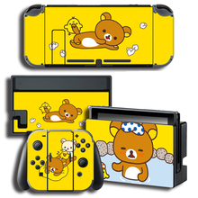 Vincy Da Tấm Dán Bảo Vệ Vàng Nhỏ Da Vịt Dành Cho Máy Nintendo Switch NS Tay Cầm + Bộ Điều Khiển + Đế Đứng Da