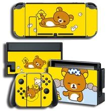 Vinyle autocollant protecteur de peau petite peau de canard jaune pour Nintendo Switch NS Console + contrôleur + support peaux