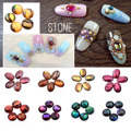 Nail Stone Decoration Glitters Alloy Rhinestones Crystal 3D Nail Art Tips Colorful Makeup Finger Jewelry Natural Abalone Shell
