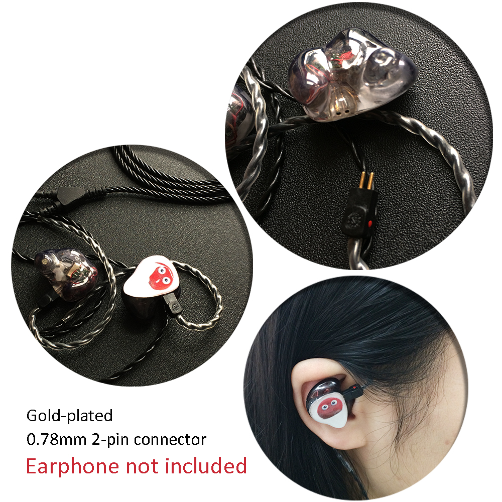 Upgrade Earphone Cable Wire For In-ear Musician Monitors Fits For 1964 W4r Um3x Es3 Es5 2 Pin Connector
