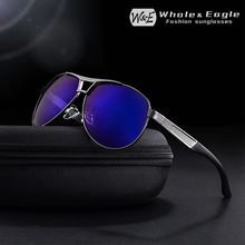 W&E Classic Mens Glasses Polarized Sunglasses Driving Pilots HD Goggles UV400 Womens Metal Fashion Brand Cool