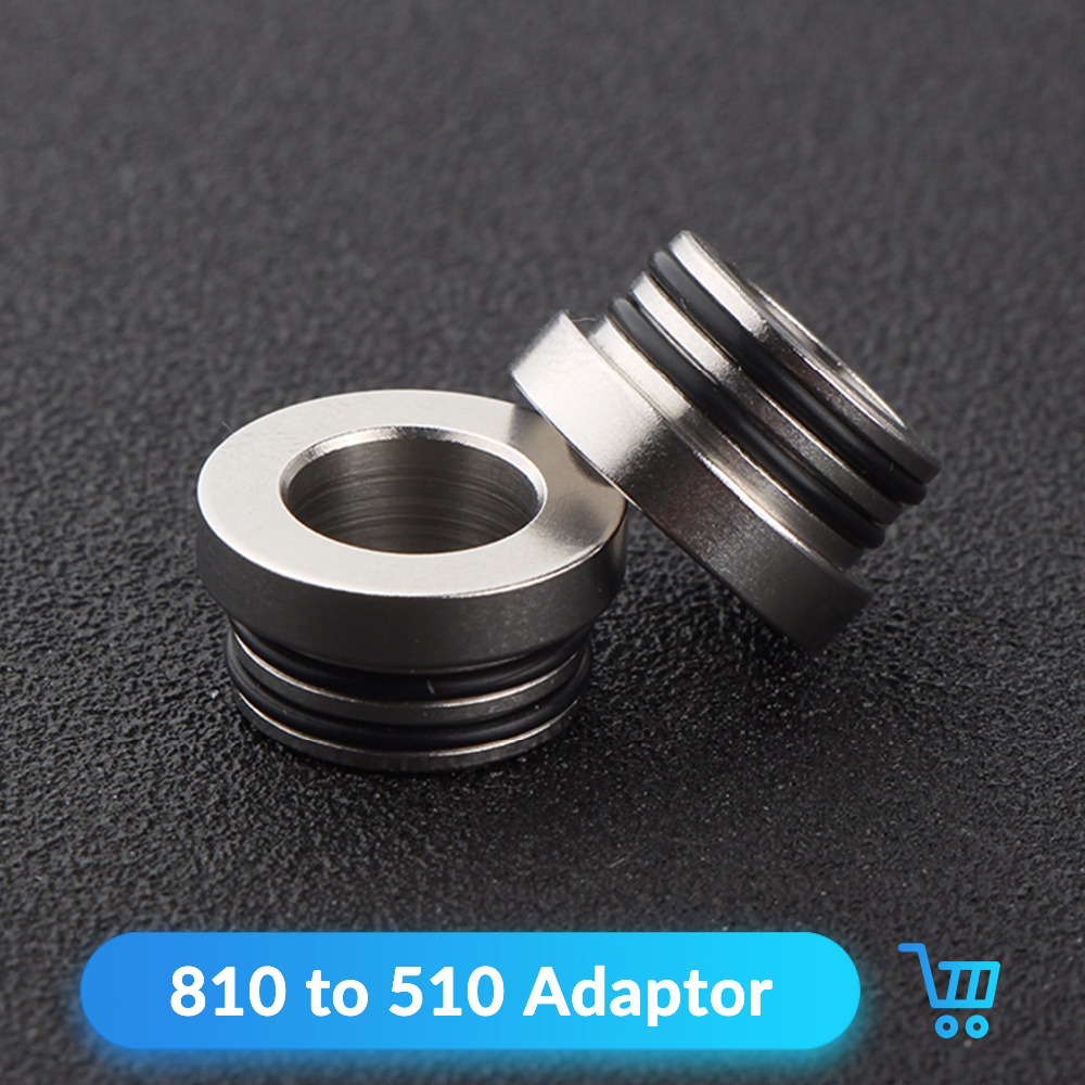 Quartz Banger 1pc 810 To 510 Stainless Steel Adaptor For V8 V12 Goon Tank 510 Drip Tip 810 Atomizer Connector E Cigarettes