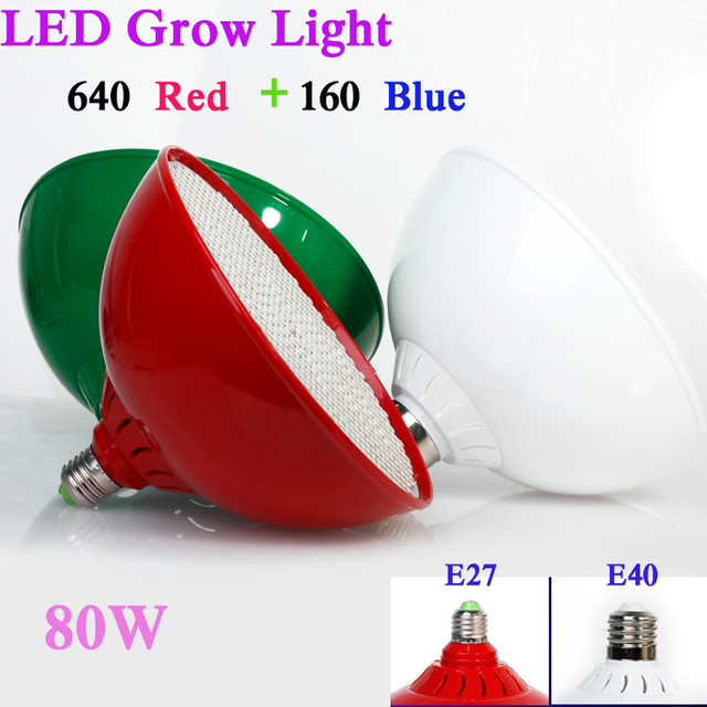 80W  Led Grow Light  AC85-265V E27 Red/Blue  800 Leds Hydroponic LED Plant Indor Grow Lights LED Bulb LED Growth Lamp