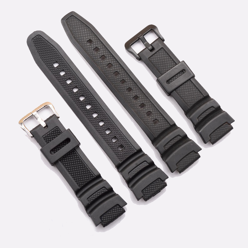 Black Silicone Watch Band Strap Replacement Strap for casio SGW-300H SGW-400H AE-1000w AQ-S810W waterproof Sport Driving Watch casio outgear sgw 100 1v