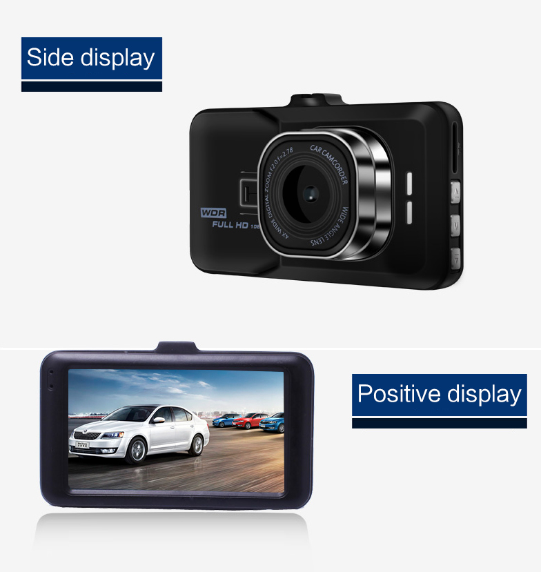 17 Registrar Car Camera DVR 1080P HD 1 Degree Dvr Black Box Car Mirror Camera Dual Camera Lens With Rear View Camera Dashcam 8