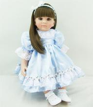 Muñeca reborn de 60 cm con Vestido azul