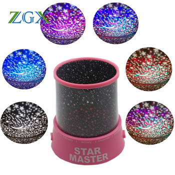 LED Night Light Projector Starry Sky Star moon Master Children Kids Baby Sleep luminaria colorful USB