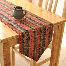 Estilo clásico exótica decoración mueble TV moda camino de mesa bandera de mesa de lino telas