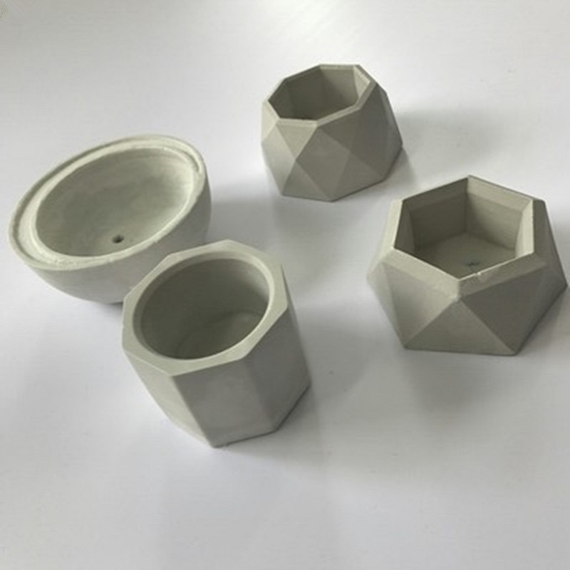 3D Concrete Planter Cactus Cement Silicone Mold DIY Clay Craft Flower Pot Mold Silicone Ceramic Plaster Vase Mould