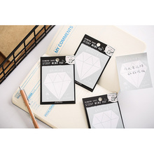 1Pack/lot Creative Diamond N Times Post Sticky Work Study Memo Schedule Plan Student Stationery Office Supply