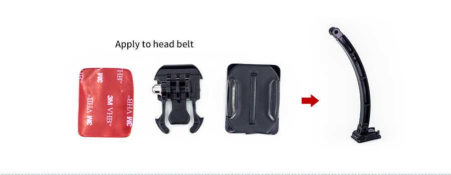 Шлем раздвижного кронштейна и монопод крепление для GoPro Session Go pro Hero 6 5 4 3 Xiaomi Yi 4 К Sjcam sj4000 Спорт Камера комплект аксессуаров
