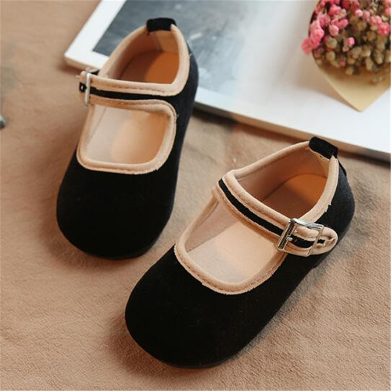 New Baby Leather Shoes Toddler Casual Children Gold Velour  Anti-Slippery Flats Student Kids Single Shoes 018