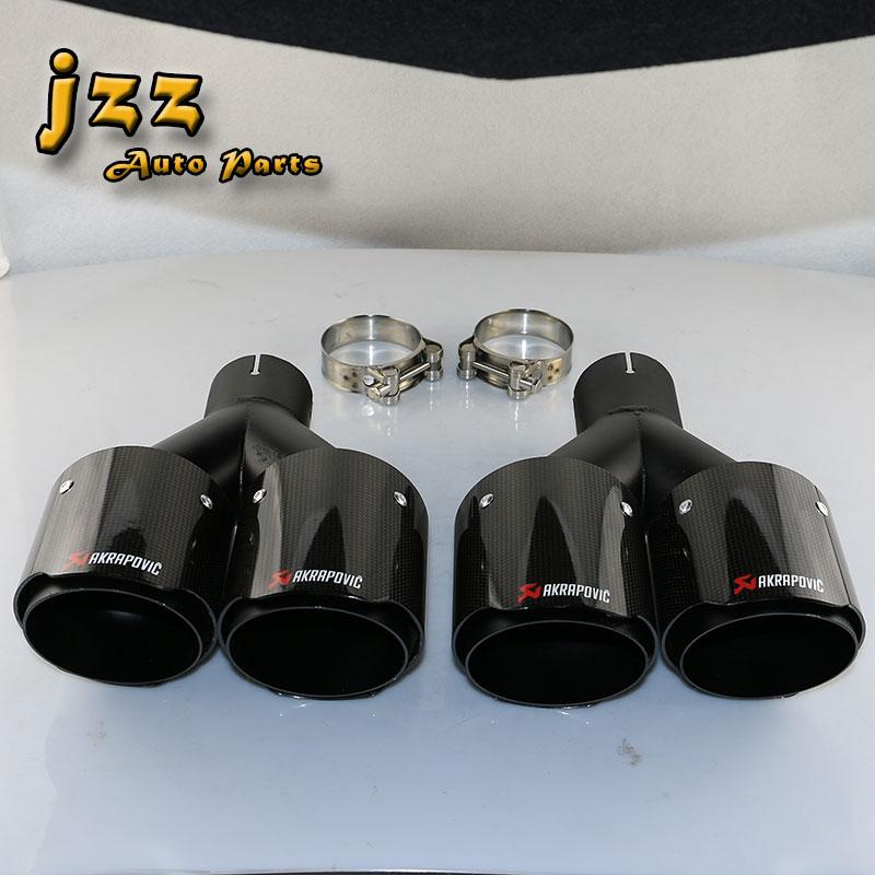 Wonderlijk Buy JZZ 1 set akrapovic car exhaust tips fiberglass carbon muffler DP-64