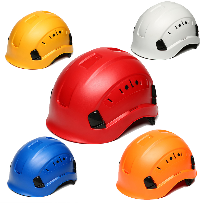 New Safety Helmet Hard Hat ABS Construction Protect Helmets High Quality Work Cap Breathable Engineering Power Rescue Helmet