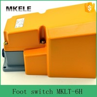 MKLT 6H Guard CNC metal alloy foot pedal switch, on off Industrial heavy duty foot switch with CE certificate