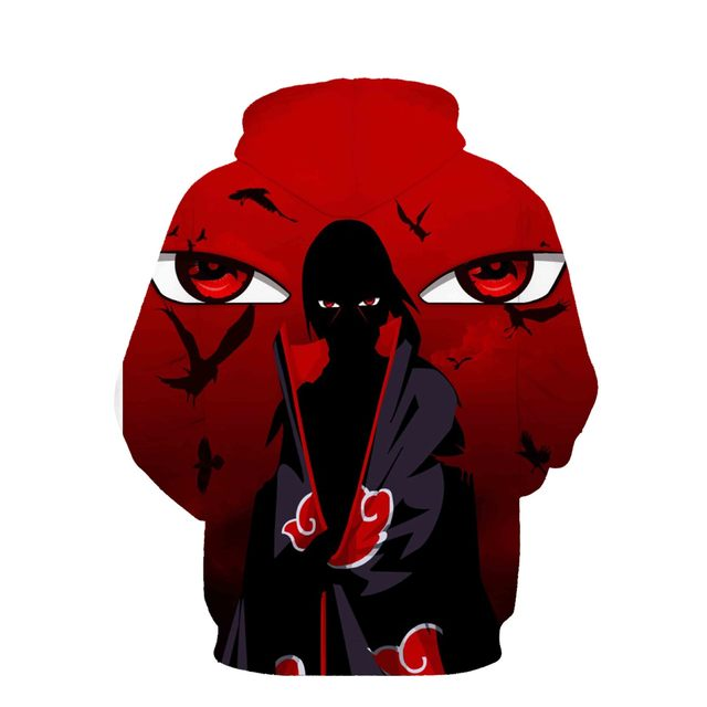 Naruto Itachi Uchiha 3D Sudadera