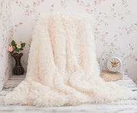 1PC Super Soft Long Shaggy Fuzzy Fur Faux Fur Warm Elegant Cozy With Fluffy Throw Blanket